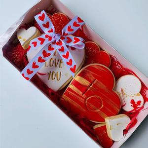Box of Hearts Cookies