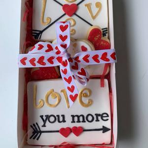 Love You More Cookie Box